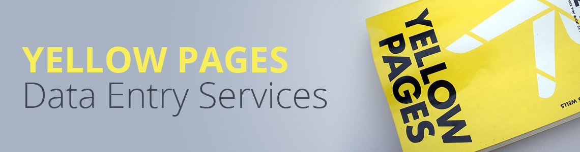 Yellow Pages Data Entry Services
