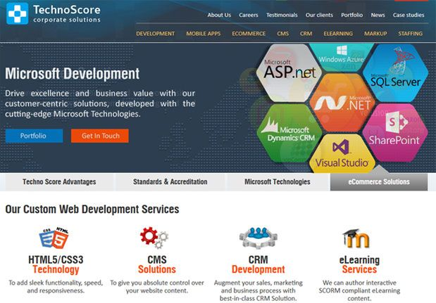 Responsive Website Design and Branding For Technoscore
