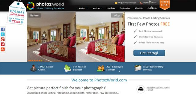 'PhotozWorld', a Site Dedicated To Photo Editing Services